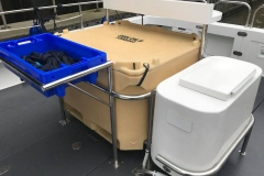 Fish box live bait tank and bait table